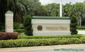 Weston Hills Country Club Entrance