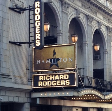 Hamilton at the Richard Rodgers Theatre in NYC.