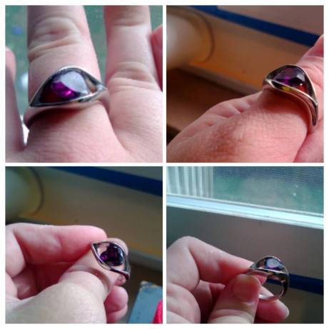 Silver ring, Purple heart