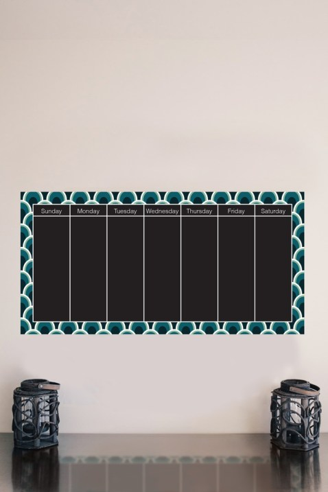 Weekly Chalkboard Calendar