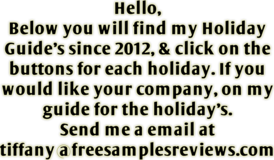 Email me at tiffany@freesamplesreviews.com