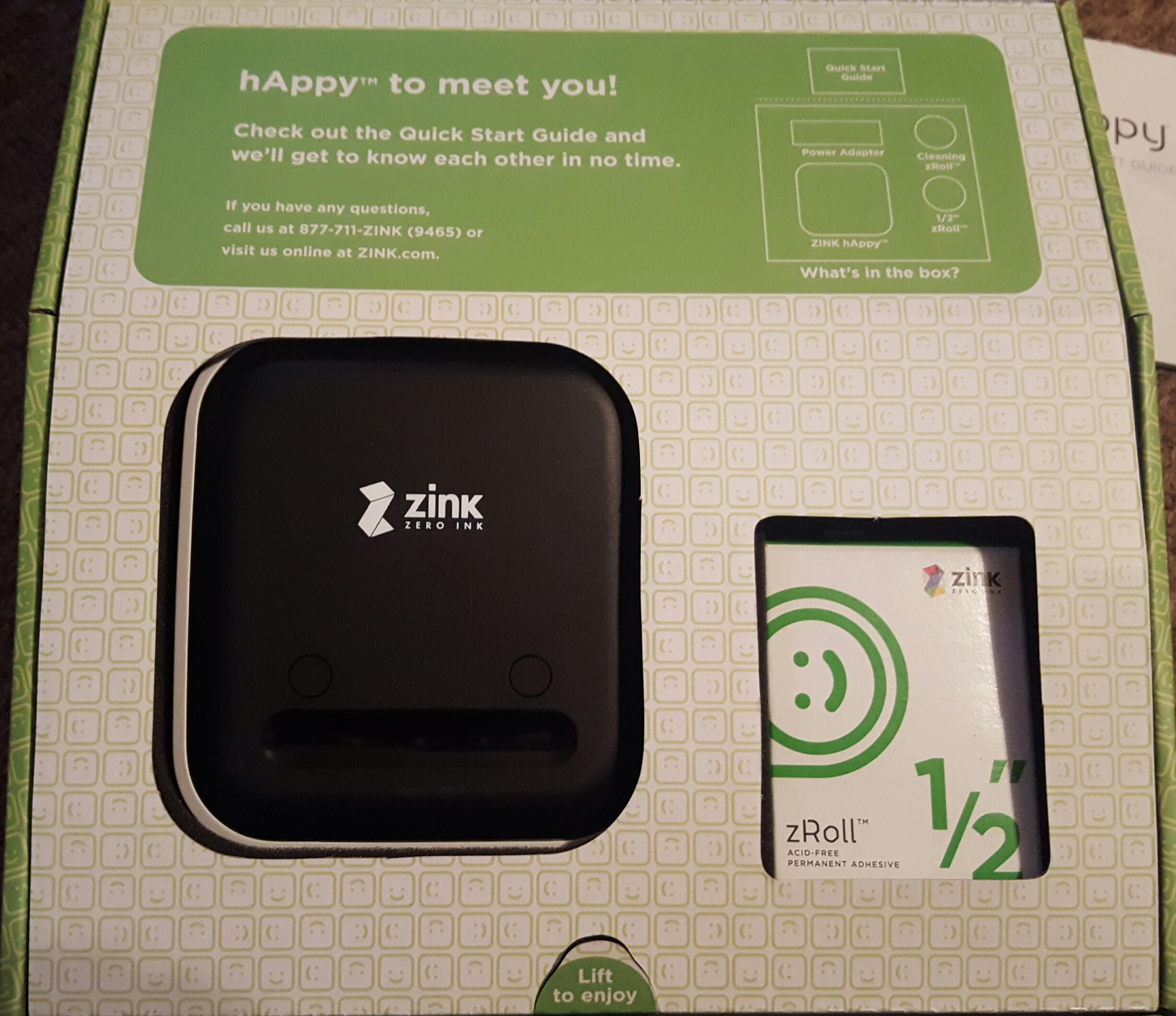 ZINK hAppy Wireless Printer