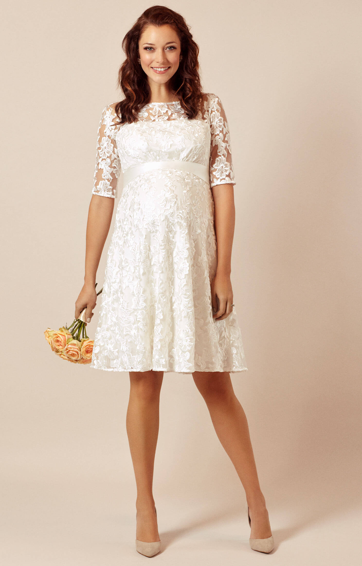 Asha UmstandsmodenHochzeitskleid In Elfenbein  Umstandshochzeitskleider Abendgarderobe und