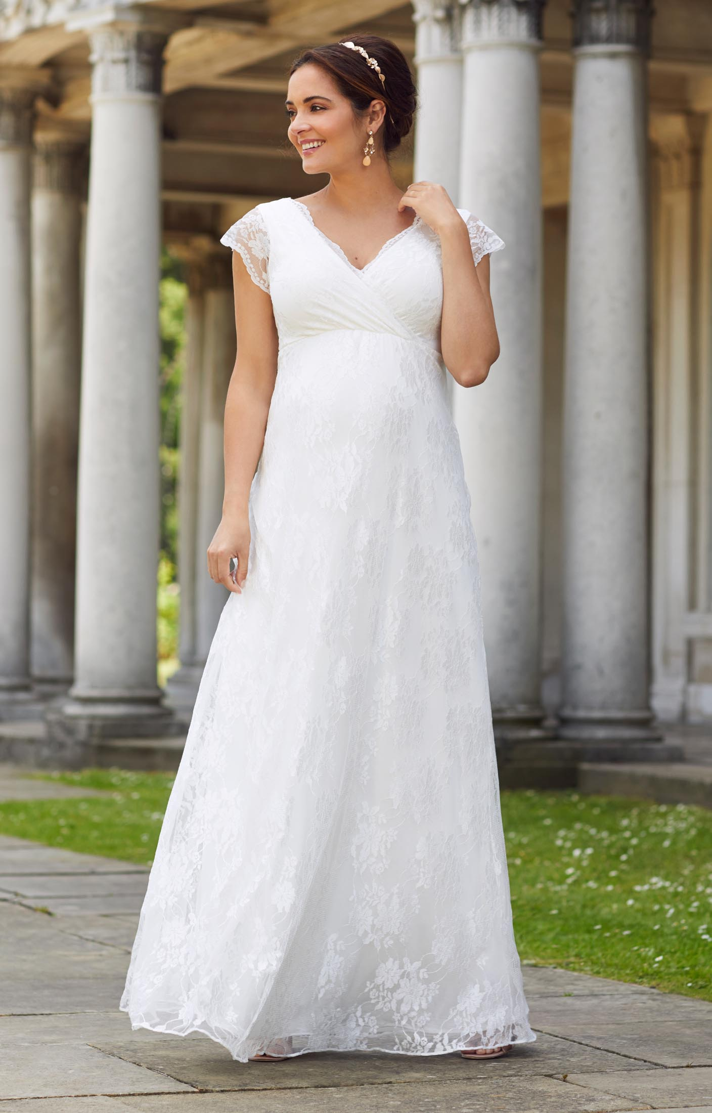 Eden Maternity Wedding Gown Long Ivory Dream  Maternity Wedding Dresses Evening Wear and