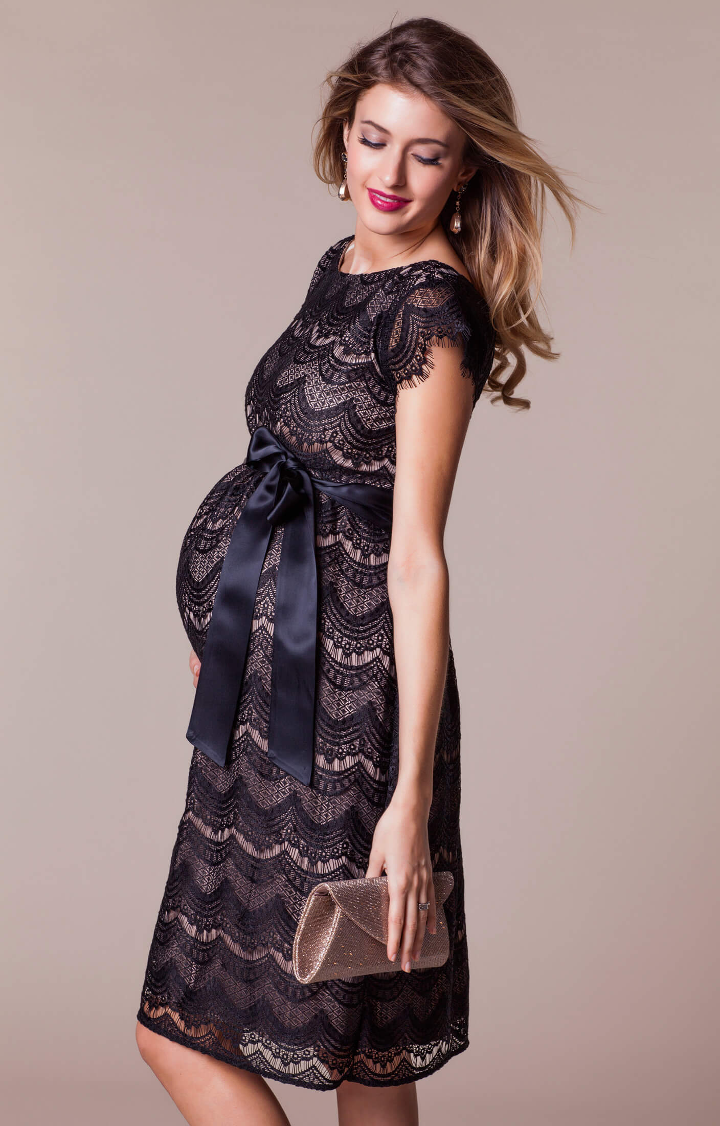 Harriet Maternity Dress Short BlackDusk  Maternity Wedding Dresses Evening Wear and Party