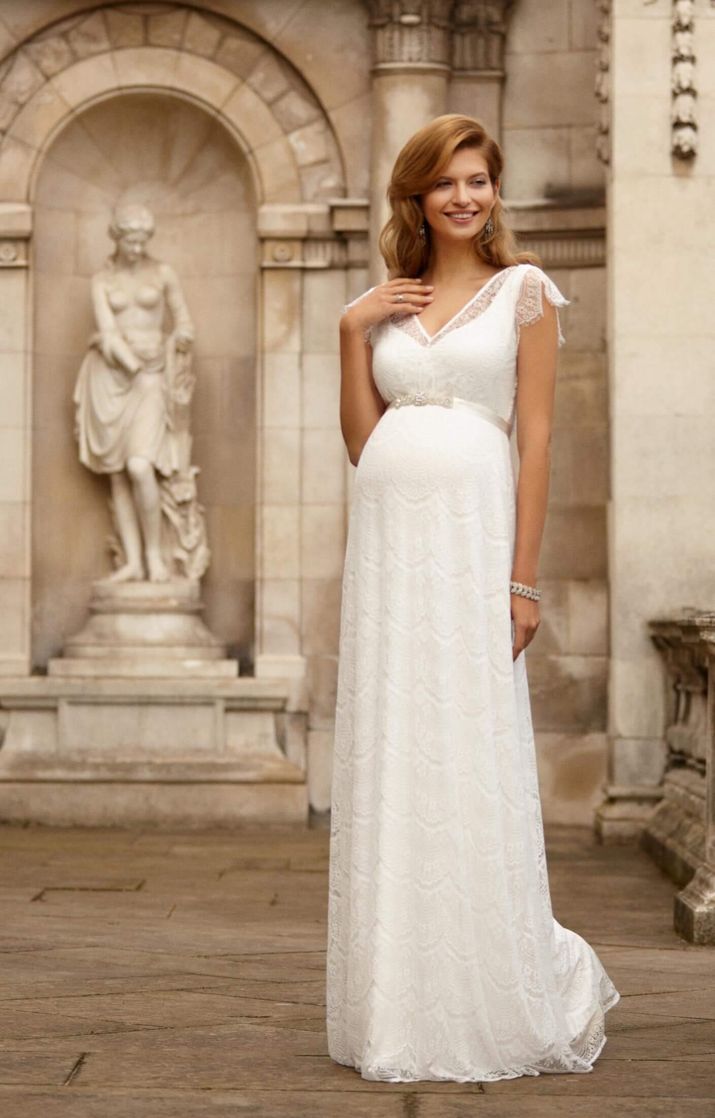 Kristin Maternity Wedding Gown Long Ivory  Maternity