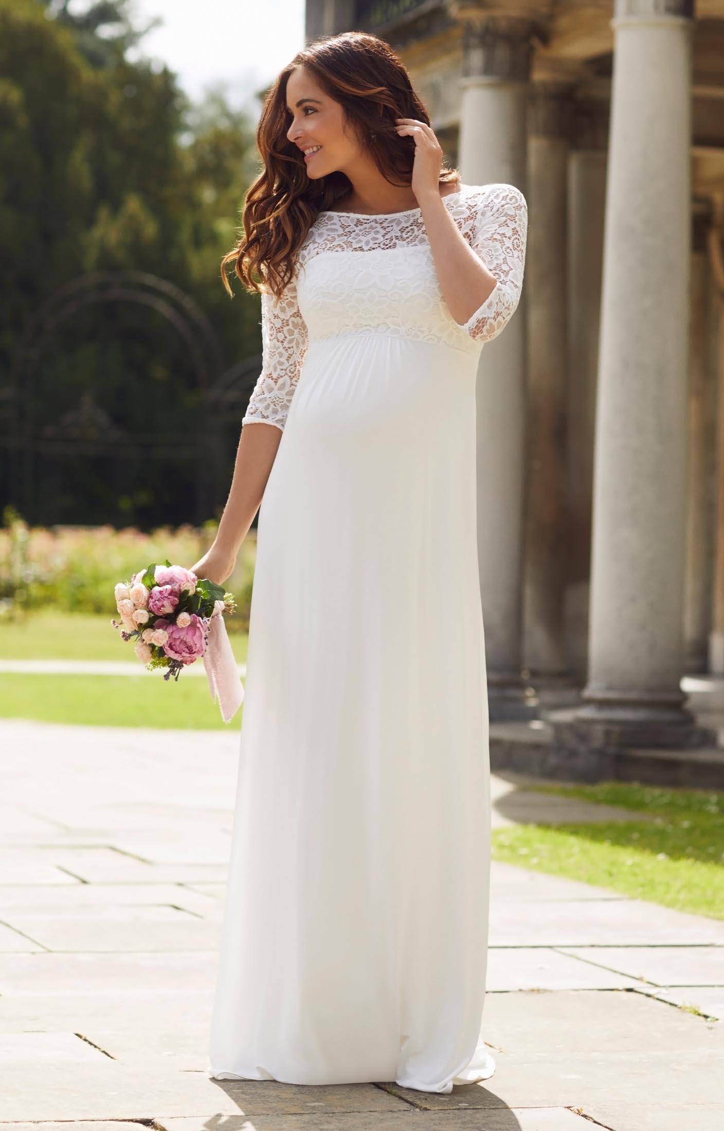 Lucia Maternity Wedding Gown Long Ivory  Maternity Wedding Dresses Evening Wear and Party