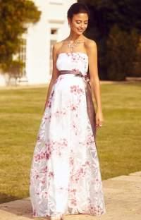 Ocean Maternity Gown Long Cherry Blossom - Maternity ...
