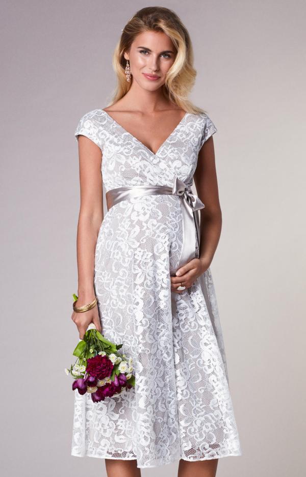 Lace Maternity Wedding Dress