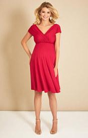 Alessandra Maternity Dress Short Bright Rose