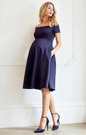 Aria Maternity Dress Midnight Blue