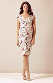 Bardot Maternity Shift Dress Cherry Blossom Red