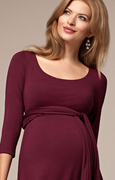 Naomi Maternity Nursing Dress Mulberry  Maternity Wedding Dresses Evening Wear and Party
