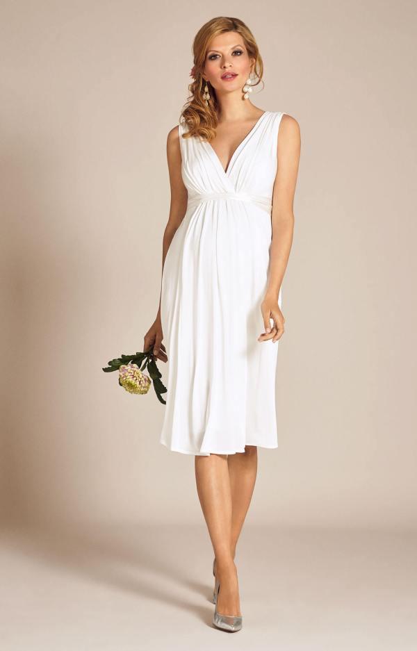 Short Maternity Wedding Dresses Ivory