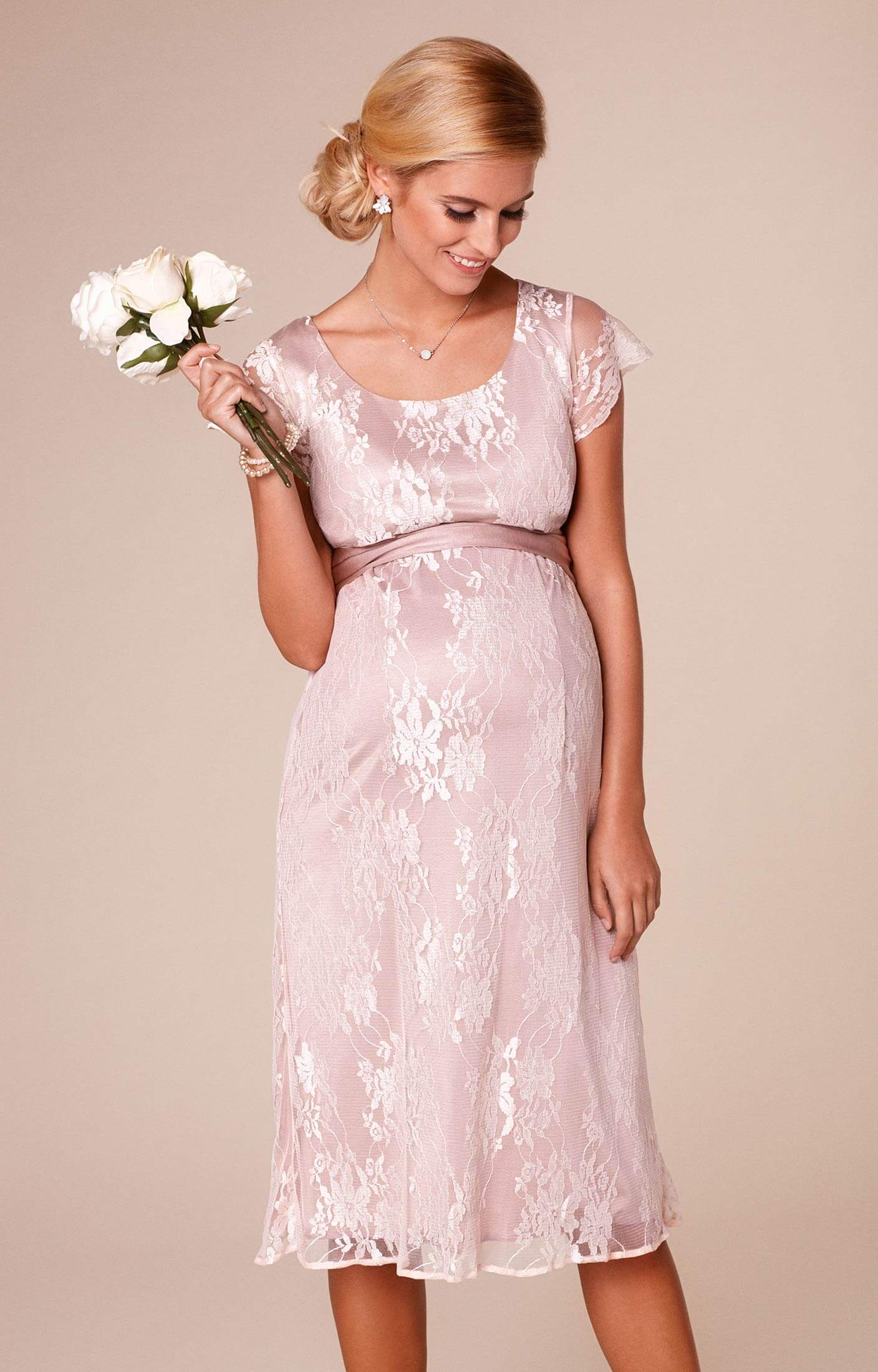 April Nursing Lace Dress Blush  Maternity Wedding Dresses Evening Wear and Party Clothes by