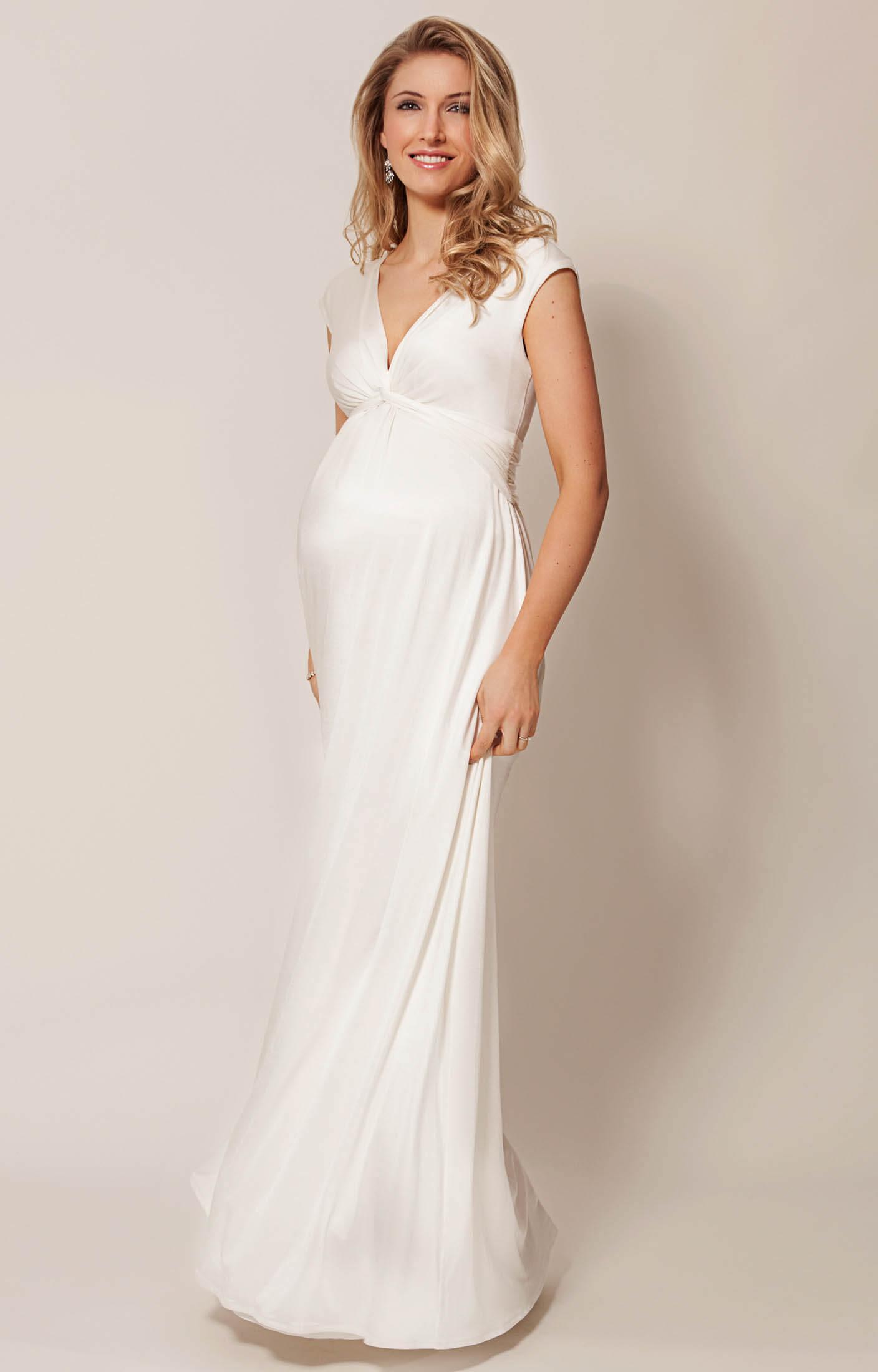 Clara Maternity Wedding Gown Long Ivory  Maternity