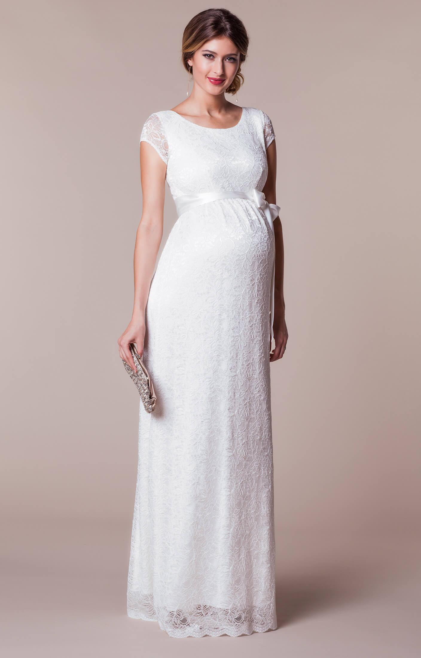 Emma Maternity Wedding Gown Long Ivory  Maternity Wedding