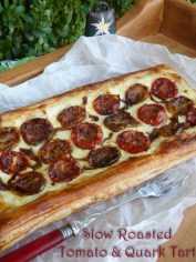 Slow Roasted Tomato & Quark Tart