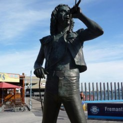 Bon Scott statue in Fremantle, WA