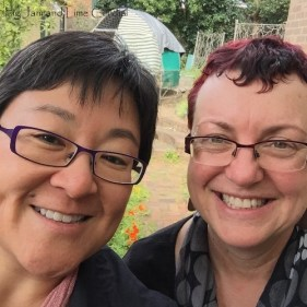 Selfie of Celia from Fig Jam & Lime Cordial and Fiona from TIFFIN bite sized food blogs