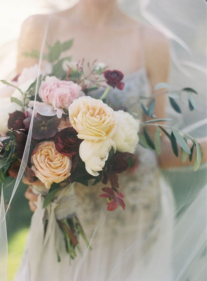 Jen Huang: Fine Art Wedding Photography, Bride Holding Flowers