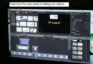 FinalCut Pro screen