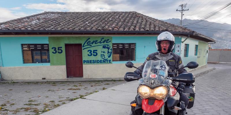 Ecuador Imbabura Triumph Tiger 800XC RTW motorcycle adventure