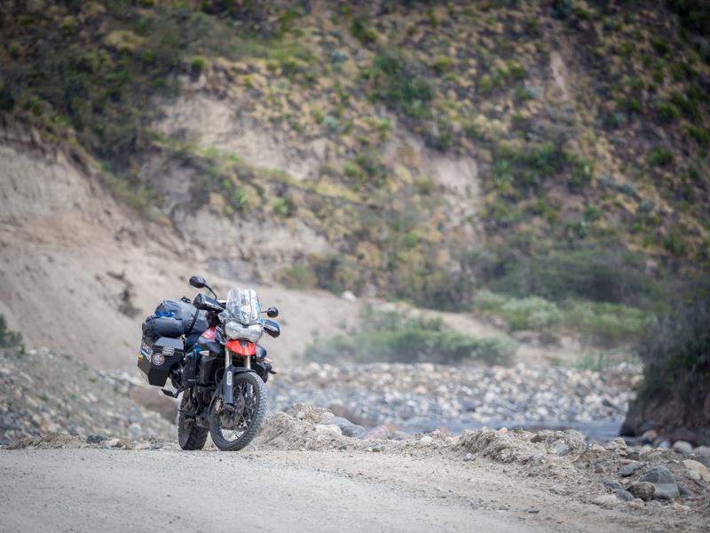 Ecuador Pimampiro Triumph Tiger 800 RTW motorcycle adventure