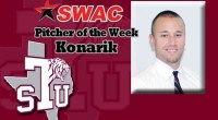 Texas Southern's Devin Konarik was named Southwestern Athletic Conference (SWAC) baseball pitcher of the week. …read more Read more here: TSUBall.com Related posts: Flanagan Named to Baseball Preseason All-SWAC Team […]
