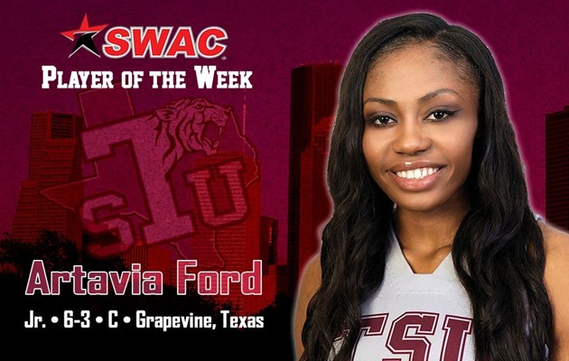 Artavia Ford claims TSU's first SWAC women's basketball weekly award of the season