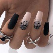 gorgeous coffin acrylic nail