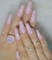 stylish acrylic coffin nail