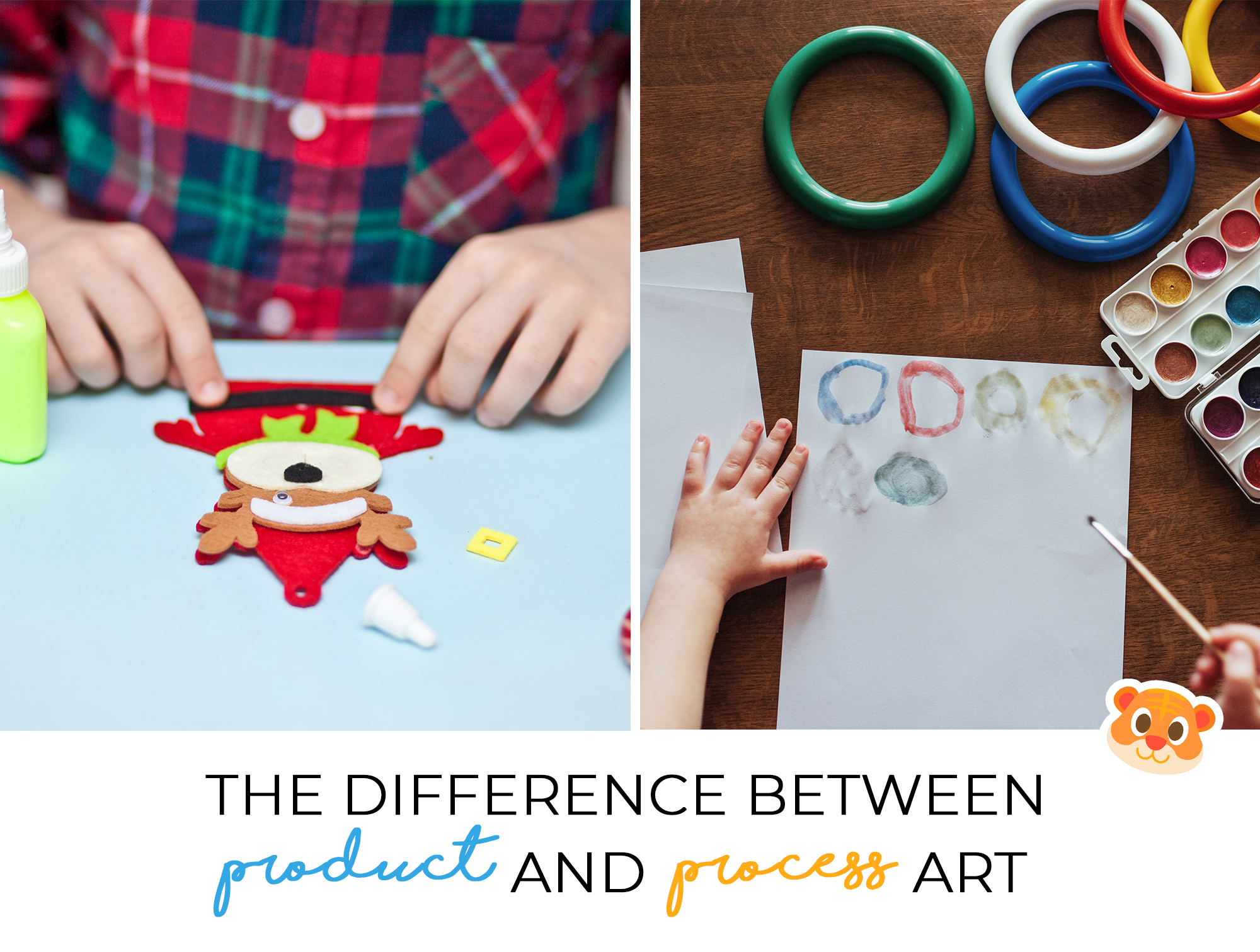 Product vs. Product art have distinct outcomes depending on what your goals are for your child engaging in art.
