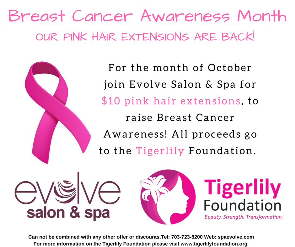 Evolve Salon And Spa Pink Hair Extension Fundraiser