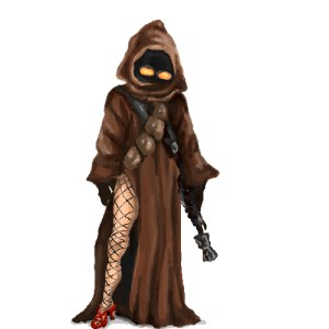 jawa with long shapely legs