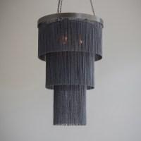 Black Chain Long Chandelier - Tigermoth Lighting