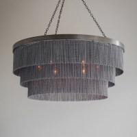 Black Chain Shallow Chandelier - Tigermoth Lighting