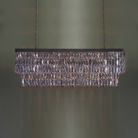 Mirrored Crystal Rectangular Chandelier - Tigermoth Lighting
