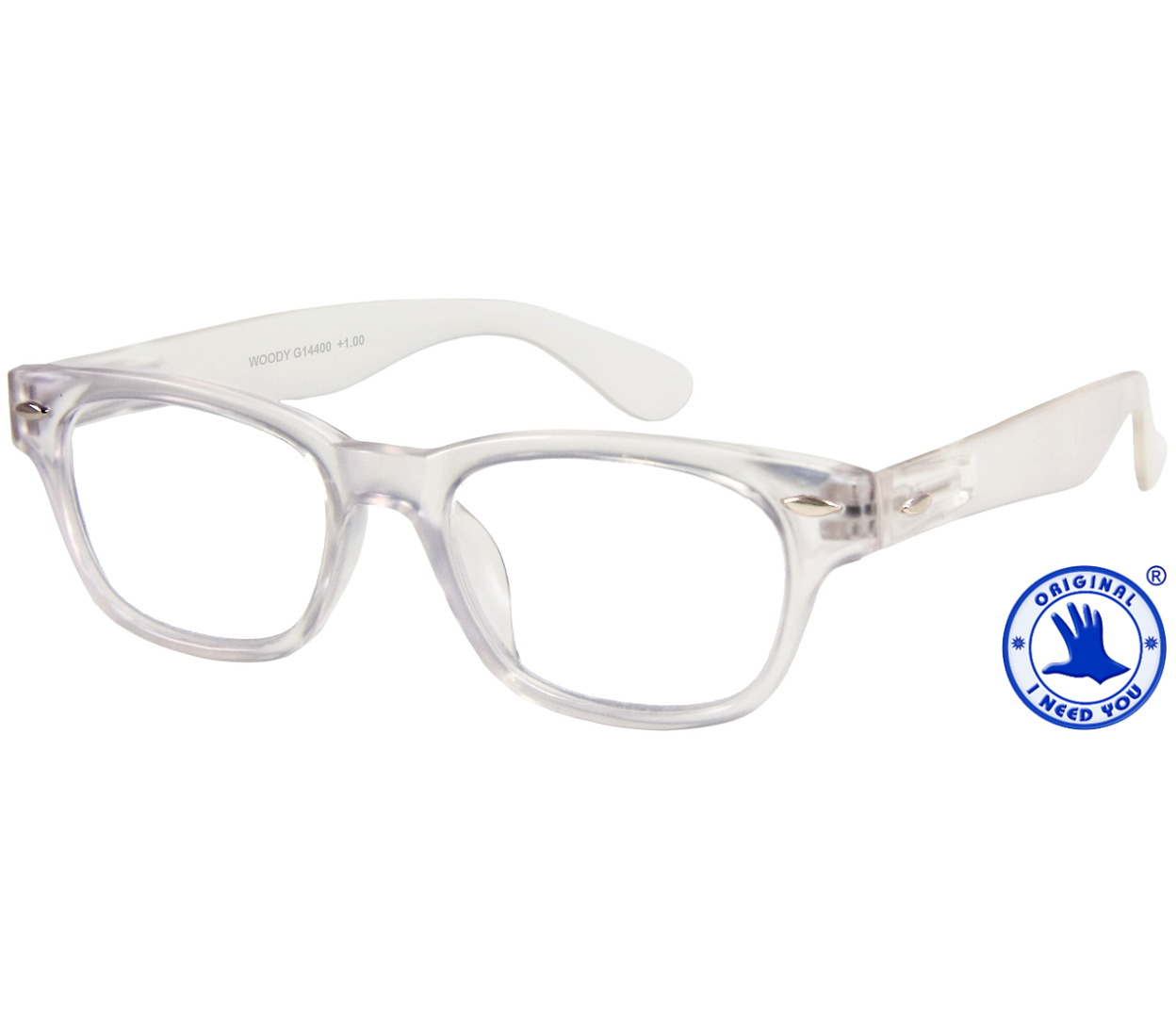 Woody (Clear) Reading Glasses - Tiger Specs