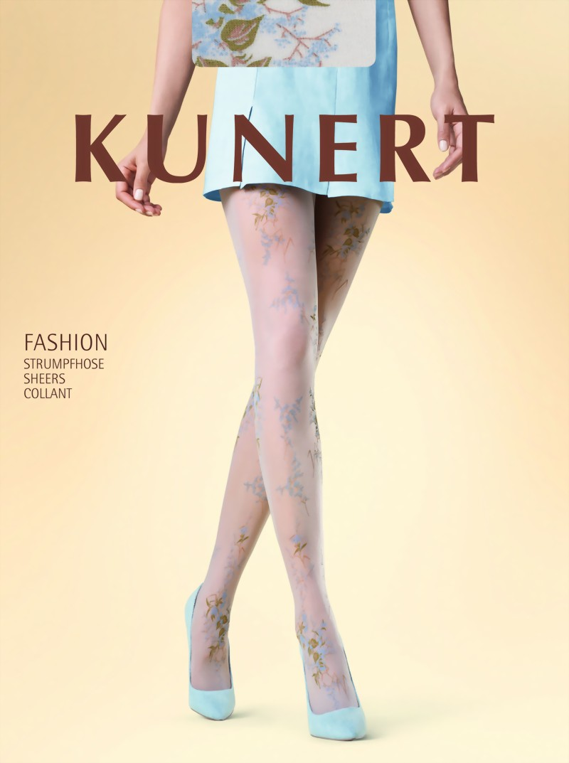 subtle flower pattern tights