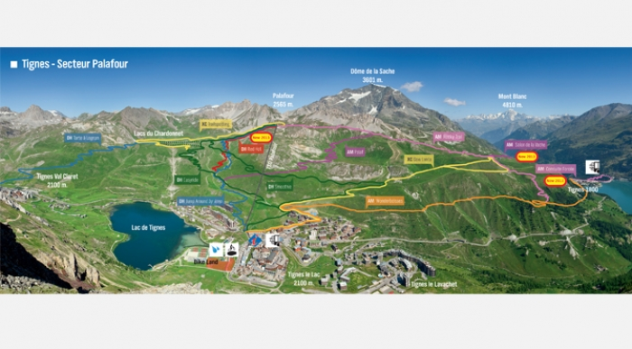 the bike chair diy wicker cushions tignes glacier is now open for summer skiing & riding!