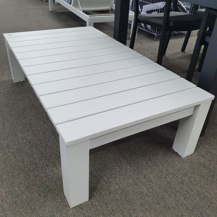 clearance sale kendra hamptons style aluminium outdoor coffee table 127cml x 70cmw rrp 799