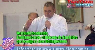 Un triunfo bendecido:Emiliano Icardo, el Diácono de San Isidro que bendijo el José Dellagiovanna