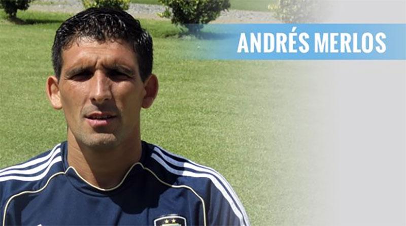 Andrés Merlos en el partido de ida