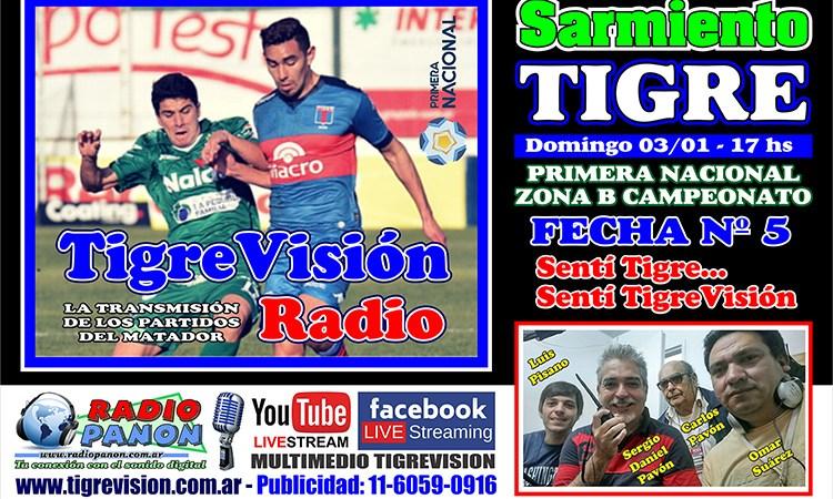 Tigre visita a Sarmiento de Junín