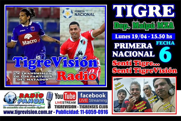 Tigre recibe a Deportivo Maipú