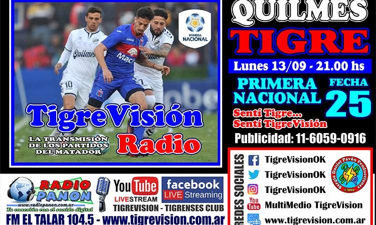 Tigre y un partido clave ante Quilmes