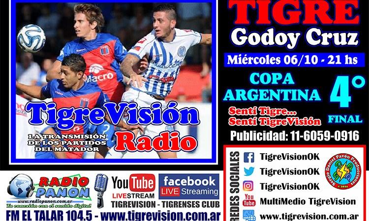Tigre busca la semifinal de la Copa Argentina