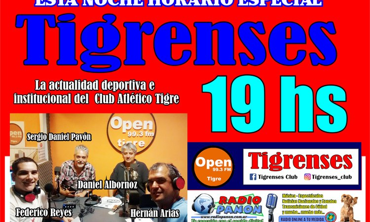 Horario especial de Tigrenses