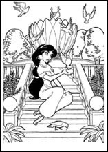 Planse De Colorat Cu Jasmin Din Aladdin Archives Tigrisorro